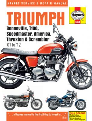 Haynes Manual for the Triumph Bonneville, Thruxton, America, Scrambler and Speedmaster