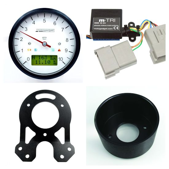 Motogadget Speedometer And Tachometer Gauge Cluster For