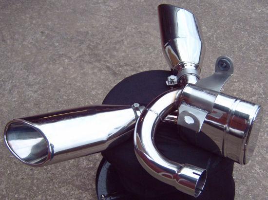 shorty exhaust for the triumph rocket iii | newbonneville
