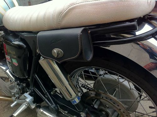 Motorcycle Tool Bag >> Tom Bros Italian Leather Tool Bag Triumph Bonneville, Scrambler and Thruxton   NewBonneville