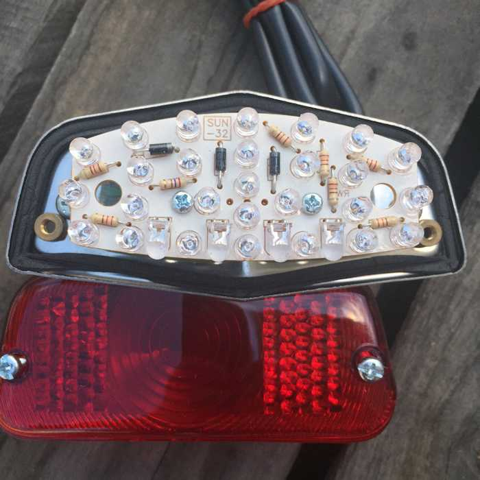 Lucas Style Led Tail Light Upgrade Newbonneville
