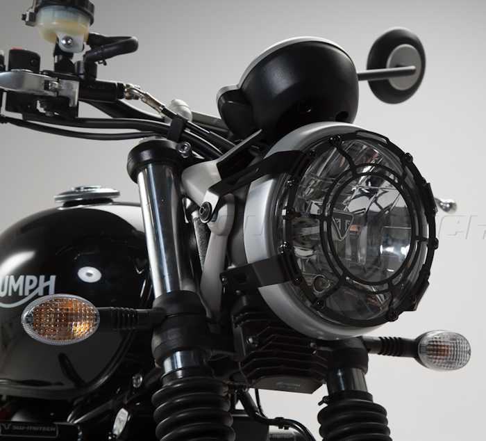 sw-motech headlight guard for triumph street twin | newbonneville
