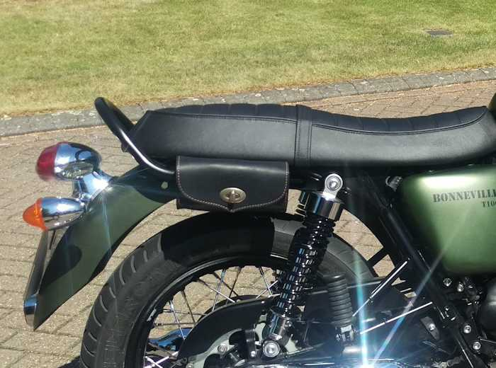 Tom Bros Italian Leather Tool Bag Triumph Bonneville Scrambler And